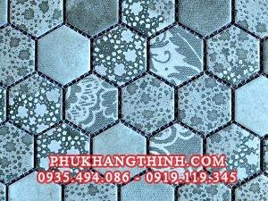 gach mosaic lục giác