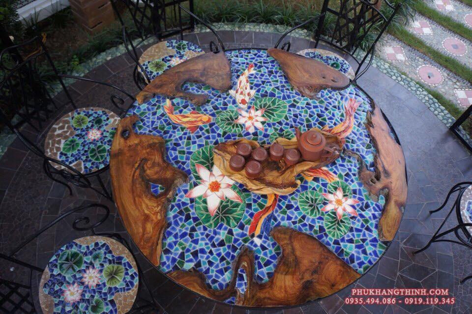 Tranh mosaic gốm